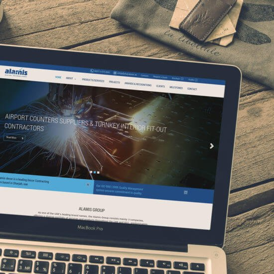 We have worked with Alamismetals for their web design & development project