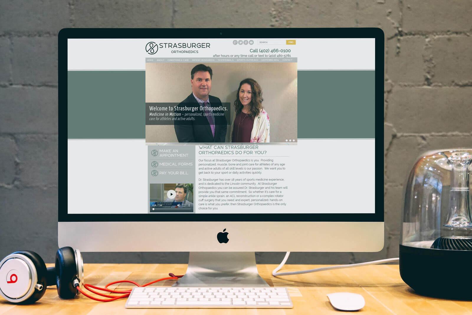 Stras Burger Orthopaedics Website Re design support